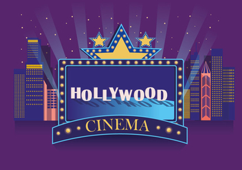 Hollywood Light Cinema Vector - vector #412847 gratis