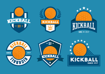Kickball Vector Badge Sets - Kostenloses vector #412987