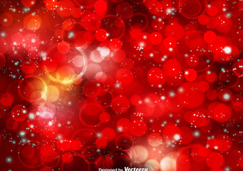 Red Bokeh Vector Background - Free vector #413257