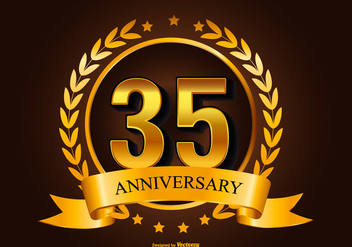 35th Anniversary Illustration - vector #413337 gratis