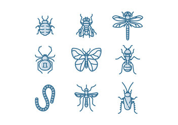 Free Insects Vector - Kostenloses vector #413377