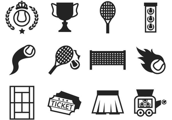 Free Tennis Icons Vector - Free vector #413417
