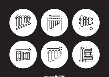 Free Marimba Outline Vector Icons - Free vector #413437