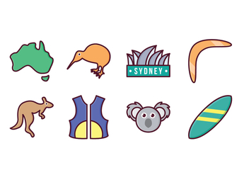 Free Australia Icon Set - vector #413457 gratis