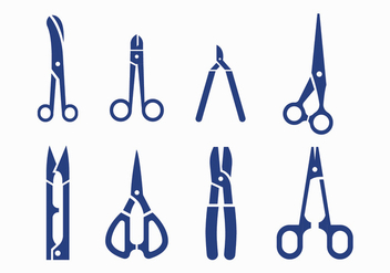 Scissors vector icons - vector gratuit #413467