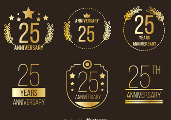 Golden Anniversary Collection Vector - Free vector #413497