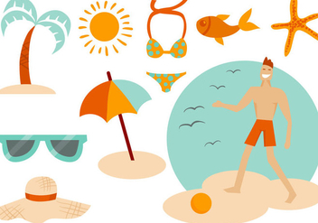 Free Beach Summer Vectors - бесплатный vector #413677