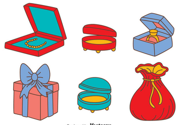 Jewelry Box Vector Set - vector gratuit #413697