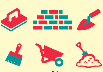 Masonry Element Icons Vector - Free vector #413707