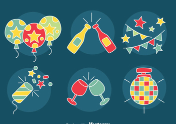 Hand Drawn Party Element Vector - vector #413727 gratis