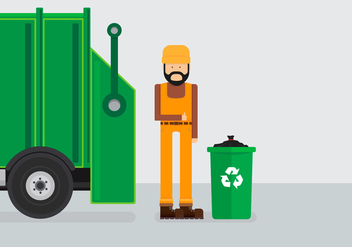 Landfill Garbage Truck - Free vector #413747