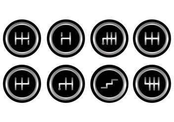 Free Gear Shift Vector Pack - vector gratuit #413777
