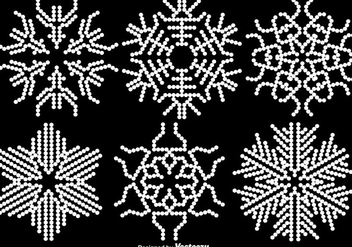 White Abstract Snowflakes - Vector - Kostenloses vector #413787
