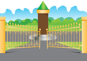 Open Gate gold - vector #413847 gratis