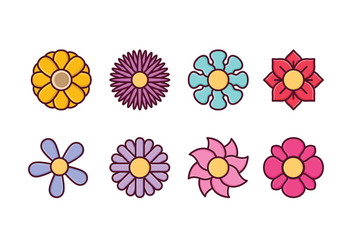 Free Flower Icon Set - vector gratuit #413897
