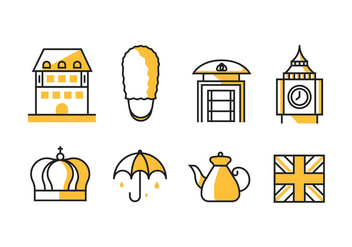 The Kingdom of Great Britain / England Icons - vector #413967 gratis