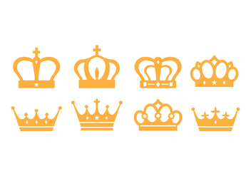 Free British Crown Vector Pack - vector gratuit #413977