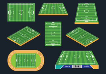 Football Ground Icons - Free vector #414047