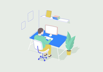 Working Vector Illustration - Free vector #414057