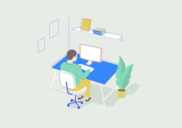 Working Vector Illustration - vector gratuit #414057