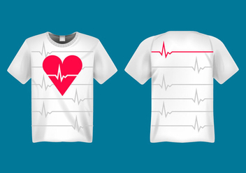 Free Heart Rate Vector Illustration - бесплатный vector #414067