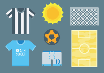 Free Beach Soccer Icons Vector - Free vector #414077