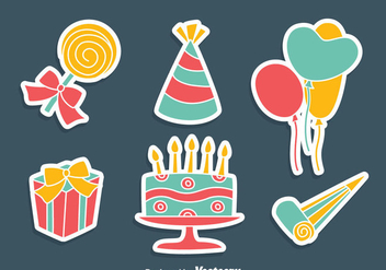 Party Decoration Vector Set - Free vector #414197