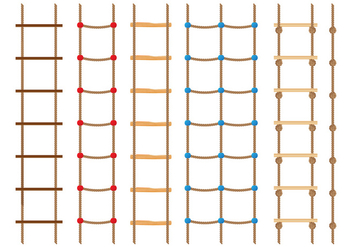 Rope Ladder Collection - vector gratuit #414207