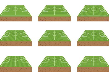 Free Football Ground Icons Vector - vector gratuit #414217