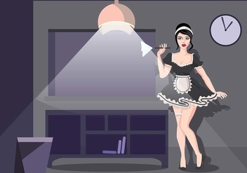 French Maid Night Schedule Vector - Kostenloses vector #414347