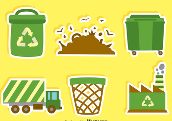 Flat Garbage Element Vector - vector gratuit #414367