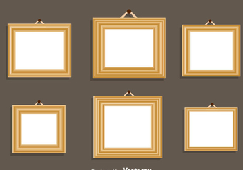 Wood Frame Vector Set - vector gratuit #414397