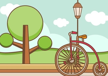 Illustration Of Retro Bicycle - vector gratuit #414537