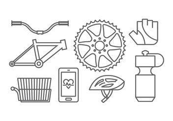 Bicycle Gear Vectors - бесплатный vector #414547