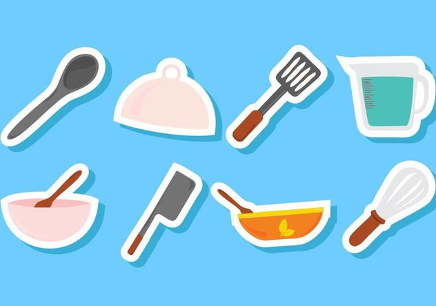 Free Kitchen Utensils Icons Vector - бесплатный vector #414647