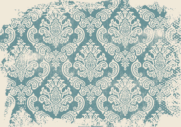 Grunge Damask Background - vector #414747 gratis