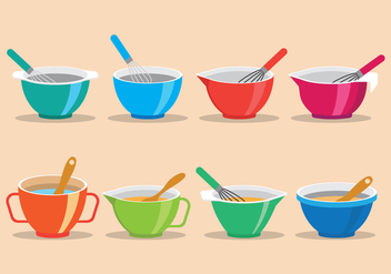 Mixing Bowl Icons - vector #414757 gratis