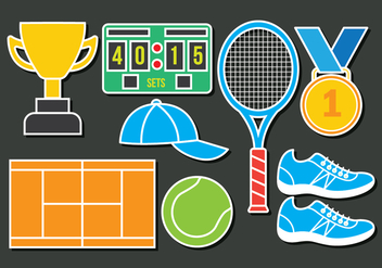 Tennis Icons - vector #414827 gratis