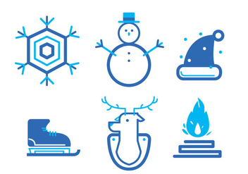 Winter Icon Set - vector #414847 gratis