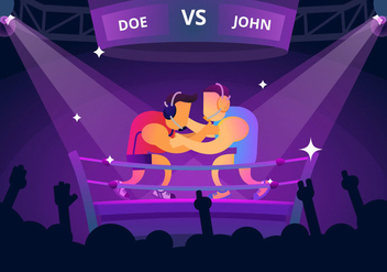 Great Boxing Match - vector gratuit #414857