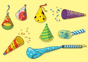 Free Party Blower Vector - vector gratuit #414867