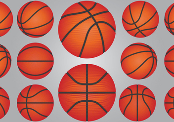 Basketball Ball Set - vector gratuit #414907