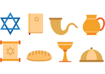 Set Of Shabbat Icons - Free vector #414997