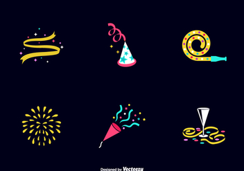 Free Party Favours Vector Icons - Free vector #415117