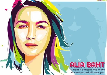 Alia Baht - Bollywood Life - Pop Art Portrait - бесплатный vector #415127