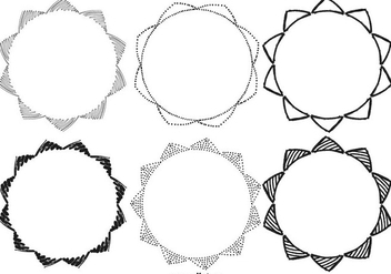 Sketchy Hand Drawn Frame Collection - vector #415137 gratis
