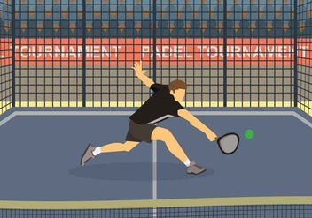 Free Padel Illustration - бесплатный vector #415377