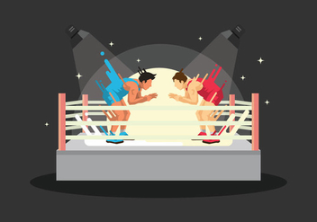 Free Wrestling Ring Illustration - vector gratuit #415397