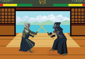 Free Kendo Illustration - Kostenloses vector #415427