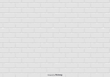 White Brick Pattern Background - Kostenloses vector #415457